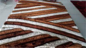 China 100% Polyester Silk Shaggy Carpet Rugs