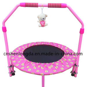 2017 New Style Kid Trampoline with Handrail pictures & photos