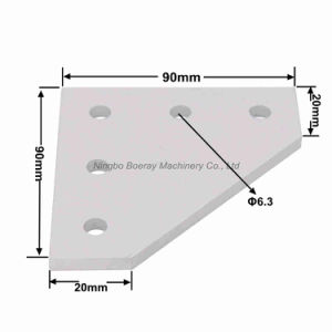 5 Hole Outside Joining Plate Bracket for Aluminum Extrusion pictures & photos
