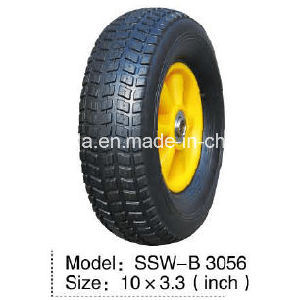 10X3.3 Inch Semi Solid Rubber Wheel (SSW-B 3056) pictures & photos