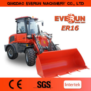Qingdao Everun Er16 Construction Machinery Mini Wheel Loader for Sale pictures & photos