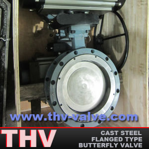 Pneumatic Flanged End High Performance Butterfly Valve