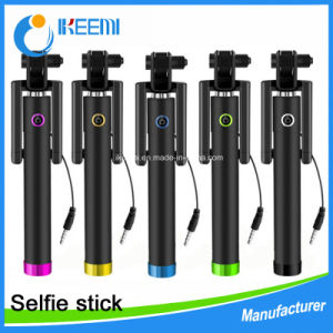 Cable Take Pole Charge-Free Cable Take Pole Mobile Phone Selfie Stick for Apple&Android pictures & photos