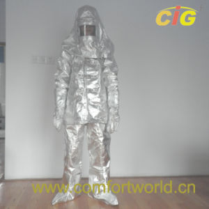 Aluminum Foil Fire Resistant Suit (SGFJ03825) pictures & photos