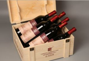 Six Bottle Wooden Wine Box, Wine Gift Box Package pictures & photos
