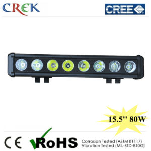 Single Row Black Housing Light Bar Truck