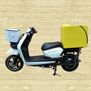 Hot Electric Scooter Motorcycle with Big Delivery Pizza Box HDF500-18) pictures & photos
