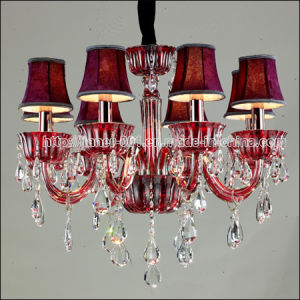Popular Traditional Crystal Chandelier Pendant Lamp Lighting in Red pictures & photos