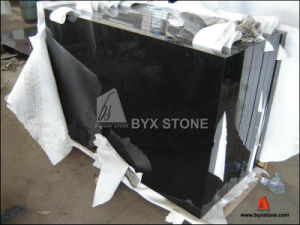 Polished Absolute Black Granite Stone Tile for Flooring and Wall pictures & photos