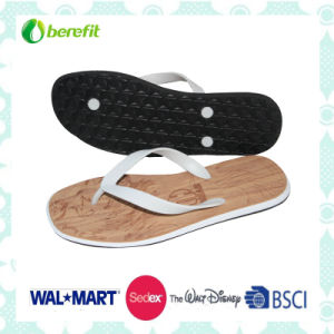 PVC Upper and Soft EVA Sole, Men′s Slippers pictures & photos