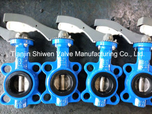 API 150lb Wafer Type Butterfly Valve with Lever pictures & photos