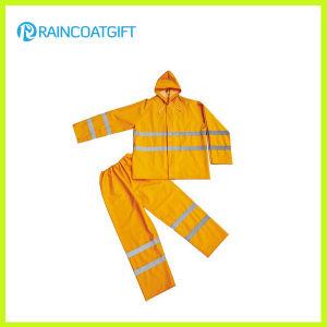 Reflective PVC Polyester Rainsuit (Rpp-029) pictures & photos