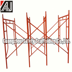 Guangzhou DIP Painted Steel H Frame Scaffolding for Building Construction Project pictures & photos