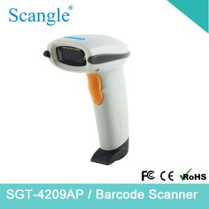 White Handheld Barcode Scanner Laser Scanner pictures & photos