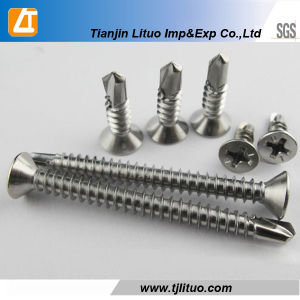 Countersunk Head Self Drilling Screws with Zinc Plated pictures & photos