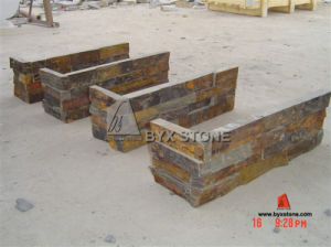 Rusty Natural Slate Culture Stone Corner / Ledgestone Corner for Wall pictures & photos
