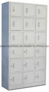 Cheap Changing Room Bathroom 18 Door Metal Steel Iron Locker pictures & photos