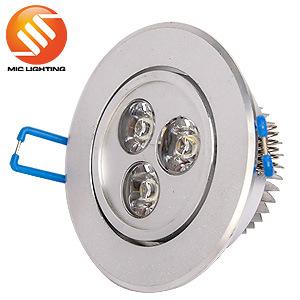 Zhongshan Aluminum High Power 3W Dimmable LED Ceiling Light Lamp