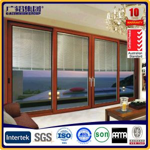 Aluminum Heavy and Smoothly Sliding Door with Automatic Shutter pictures & photos