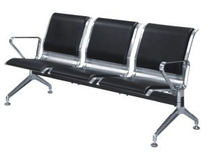 Stainless Steel Public Chair Barber Waiting Chair with PU Cushion pictures & photos