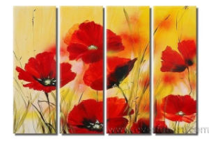 Handmade Modern Wall Decor Art Flower Painting on Canvas (FL4-047) pictures & photos