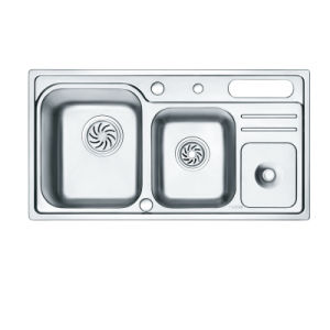 Oppein Double Bowls Stainless Steel Kitchen Sink with Tray (OP-PS926A-TC) pictures & photos