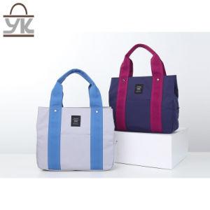 Fashion Leisure Contrast Color Canvas Women Handbag pictures & photos
