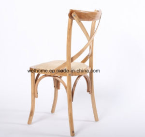 Hot Sale Solid Wood Rattan Seat Cross X Back Chair for Wedding pictures & photos