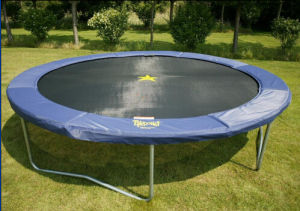 8FT Round Trampoline 3 Legs Without Enclosure Net