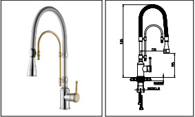 Chrome Gold Finished Spray Head Kitchen Faucet pictures & photos