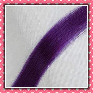 Purple Color Keration Hair Extensions Remy Hair Silky 18inches pictures & photos