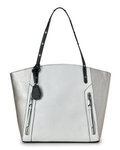 Fashion White & Silver Women Tote Bag Ladies Designer Bags pictures & photos