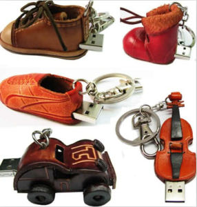 Full Capacities Leather USB Flash Pen Drive for Customized Logo pictures & photos