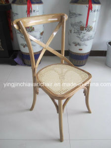 Stackable Beech Wood Cross X Chair