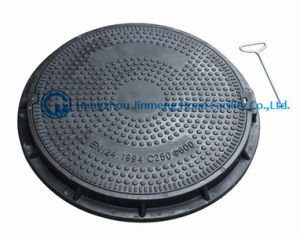 Composite Manhole Cover with Clear Open 600x600 (C250, D400) pictures & photos