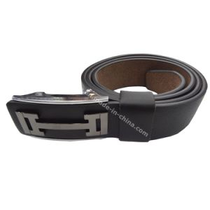 Hot-Selling New Design Press Buckle Genuine Leather Men Belt pictures & photos