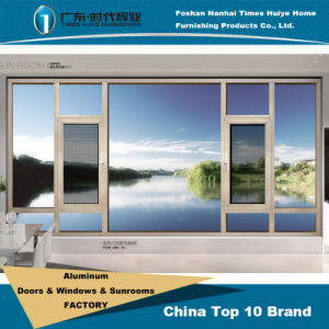 Aluminum Casement Window with Fly Screen (Net) for House Price pictures & photos