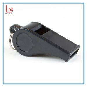 Advertising Promotion Cheap Custom Logo Black Keychain Whistle pictures & photos