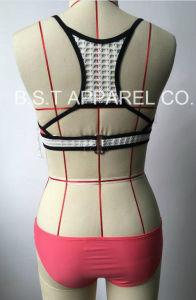 Sexy Ladies Crochet Two-Piece Bikini Swimwear (QG-6182-1M) pictures & photos