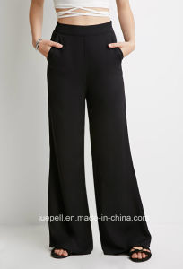 Classic Palazzo Pants with Slanted Front Pockets and an Invisible Side Zipper pictures & photos