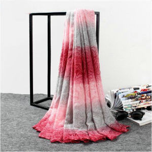 Fashion Colorful Lady 100% Cotton Voile Scarf pictures & photos