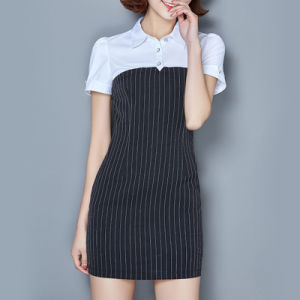 China Apparel Career Dress Office Dress New Fashion Ladies Dress pictures & photos