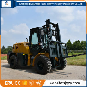 off Road Forklift, Rough Terrain Froklift for Mining Sand Soil pictures & photos