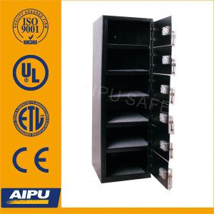 6 doors steel locker safe LKR-5116K263-01 with double bitted key lock / 2mm body 4mm door pictures & photos