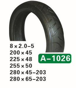 High Quality Baby Stroller Tire 280X45-203, 280X50-203, 280X65-203, 312X52-250 pictures & photos