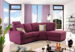 Corner Leather Recliner Fabric Sofas and Colorfully pictures & photos