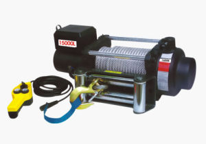 DC 12V Electric Winch with Remote Control (LD-15000L) pictures & photos