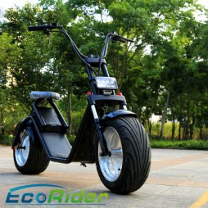 Seamless Steel Tube Frame Brushless City Coco Motorcycle Hub 1200W Lithium 60V 12ah Harley Electric Scooter pictures & photos