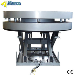 Marco Single Scissor Lift Table with Turntable pictures & photos