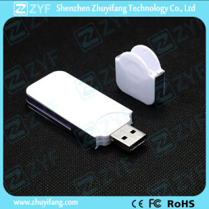 White Slim Plastic 2GB USB Stick for Gift (ZYF1251) pictures & photos